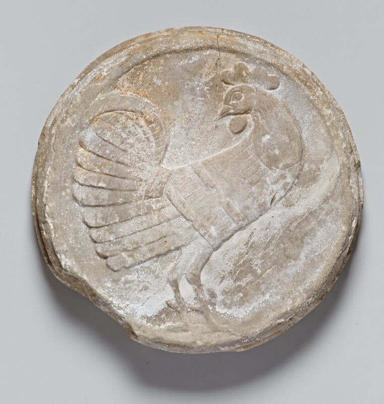 Bas-relief of a Rooster