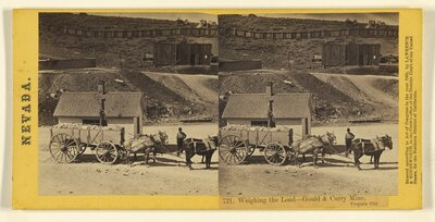 Weighing the Load - Gould & Curry Mine, Virginia City.
