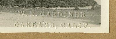 Gardiner embossed stamp