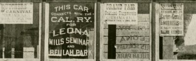 About 1898. When line was operated from 16th St. Depot to the Cemetery via Alameda - detail