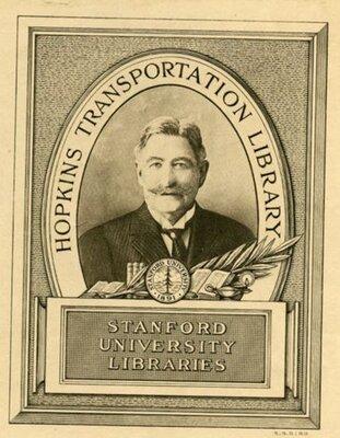 Hopkins Transportation Library bookplate