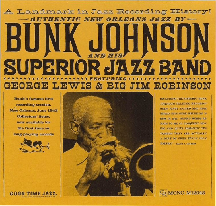 Bunk Johnson - Record Cover.png